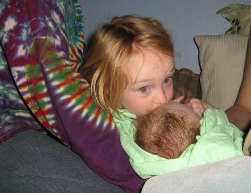 Jessica and baby Emma
